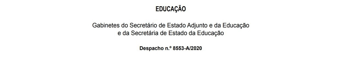Despacho n.º 8553-A/2020