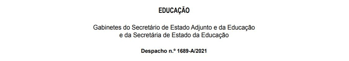 Despacho n.º 1689-A/2021