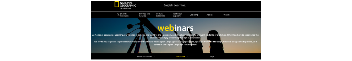 Imagem Webinar Library - National Geographic Learning