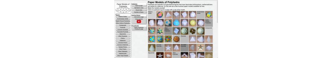 Paper Models of Polyhedra