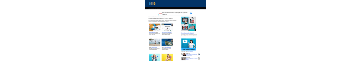 Imagem Elllo - English Listening Lesson Library Online