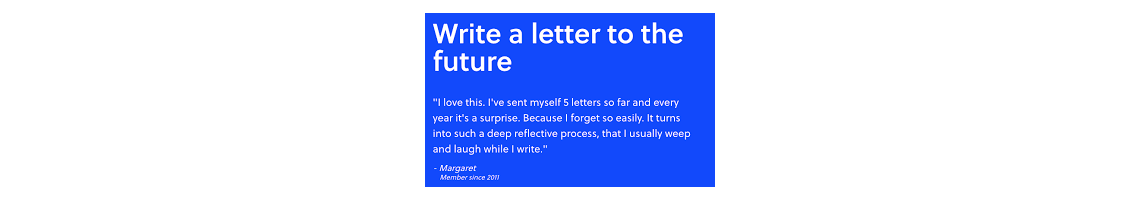 Imagem FutureMe: Write a letter to the future