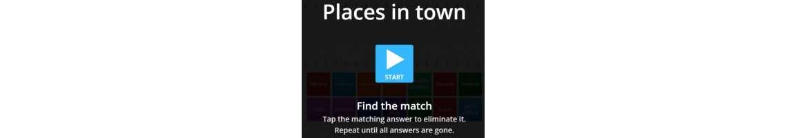 Jogo Places in town