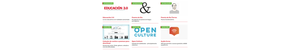 Recursos indexados por categorias no Portal do PNL2027